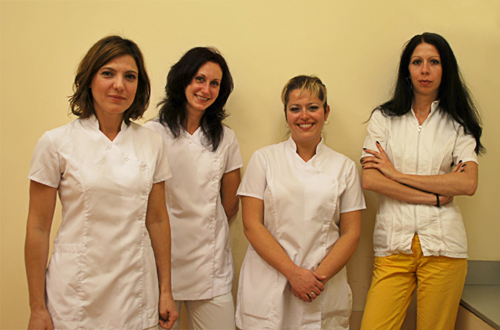 Our team: Gabriela Lukanova � Doctor of Dental Surgery (DDS), nurse N. Angelova, Svetlana Blagovestova � DDS and nurse B.Kanakova.